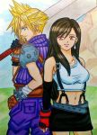 Cloud x Tifa: I will always protect you by dagga19