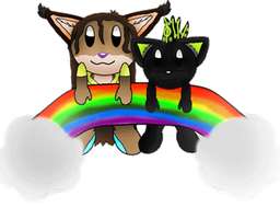 Cyclone and Snigger Rainbow by SugarNoms