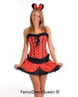 Sexy Minnie Mouse Corset Costume by fancydressqueen