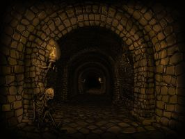 Dark Dungeon Corridor. by zelldweller