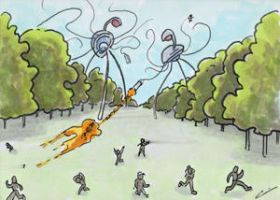 War of the Worlds Sketch Card (12) by GeekyWhiteGuy