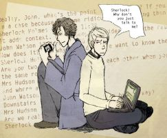 Sherlock and John by ICowo