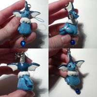 Vaporeon Bead Charm by ChibiSilverWings