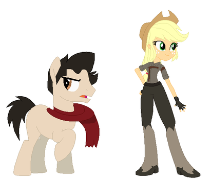 Crossover AU Mako and Applejack by EverythingReviewer