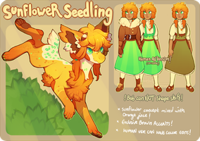 [Auction] :: Sunflower Seedling (open!) by PhloxeButt