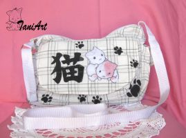 Kawaii neko 'cat' handmade bag by TaniArt