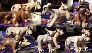 sculpey vitani and tamau by tendollarbrownie
