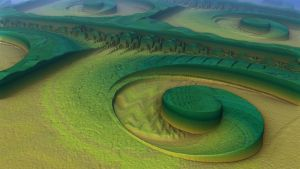 Spiral Divisions in the green Desert by AkuraPare