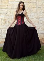 Black Gauze Renaissance Skirt by CrystalKittyCat