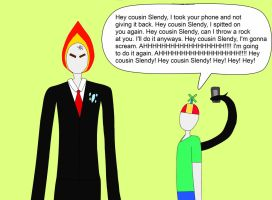 Slenderman And His Four Year Old Cousin by Mcrfan343