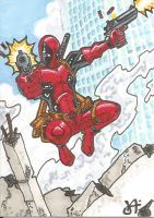 Deadpool Sketch Card by chicagogeekdad
