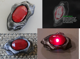 Dante's Amulet - resin cast daylight and LED test by Hypercats