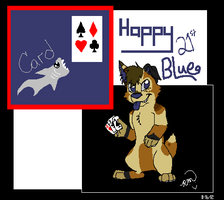 .: Blue Da Card Shark :. by RayaWolf