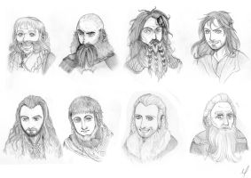 + The Hobbit: 8 dwarves + by C-Palmer