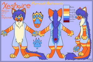 COMM: Fursuit Reference Sheet by ShadeShi