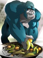 Hank takes some fruit by Gilmec