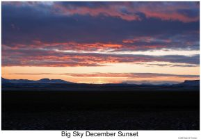 Big Sky December Sunset by hunter1828