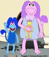 Blue, Kantus, And Lily Fraggle by TomFraggle