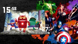 Android Avengers Widget for xwidget by jimking