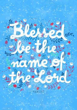 Blessed be the name of the Lord - Illustration by gb-illustrations