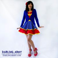 Retro Styled Wonder Woman Cosplay Pinafore by DarlingArmy