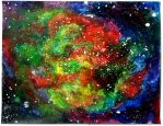 Colourful Galaxy Painting by BijouRayne