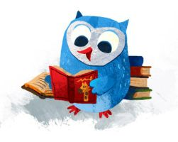 booky owl by MelDraws