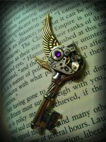 Dark Steampunk Mechanized Fantasy Key by ArtByStarlaMoore