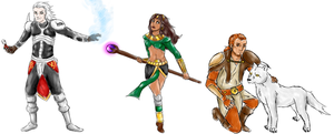 Diablo 2 - Necromancer, Sorceress and Druid by Fenrize