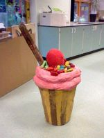 Giant Paper Mache Cupcake by ButchxButtercup1996