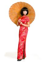 Chinese girl with umbrella by mai-tran
