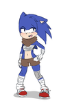Sonic boom - genderbend by lazy-Time