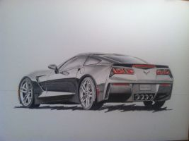 C7 Drawing by jmonroe-fineart