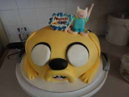 finn and jake cake by panda-odono
