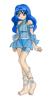 Mew Sapphire Outfit Re-Design Colored by Eleanor-Devil