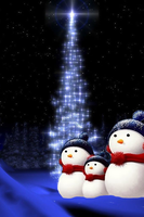 Christmas Snowmen Wallpaper by poetic24