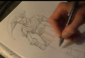 Drawing tutorial - Link (Legend of Zelda) by peter2005