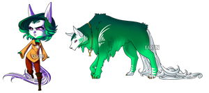 Cosmic Wolf + Chibi Auction 3 - CLOSED by Karijn-s-Basement