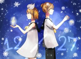 Happy Birthday Kagamine Twins! by oheka