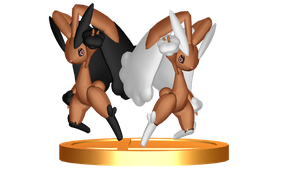 The Lopunny Sisters SSB4 Fan Trophy by MephistaTheDark