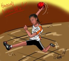 Barby, handball by DrawingSpirit2015