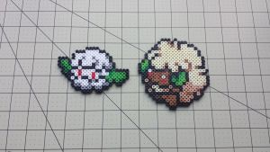 Cottonee + Whimsicott - PB Sprite Set by MaddogsCreations