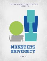Monsters University Minimal Poster by AndreaBarriga