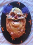 purple hair clown plaque by UglyBabyEater
