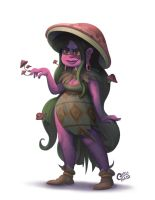 Mushroom Witch by Curly-Artist