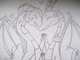 dragons in love by Princess-Shannen