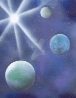 Life, Water and Ice planets by larkspur-lane-emp