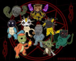 Slipknot Pokemon by 0parkp