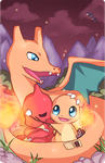 Pokefamily Vacation : Charmander by Geegeet