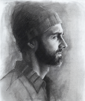 Self Portrait w/ Hat by Pags01